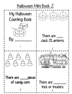 $ Halloween counting mini book! Part of 31 page packet of ELA and math Halloween activities
