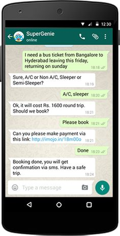Tickets for Flights, Buses, Trains are just a chat away!