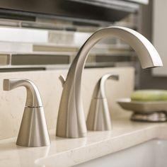 Shop Moen Oxby Spot Resist Brushed Nickel 2-Handle Widespread WaterSense Bathroom Sink Faucet (Drain Included) at Lowes.com