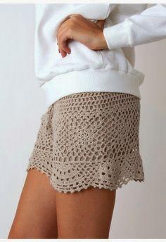 Rosa acessórios em tricô & crochê: Shorts