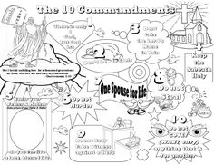 ten mandments for kids a mini coloring book with simple