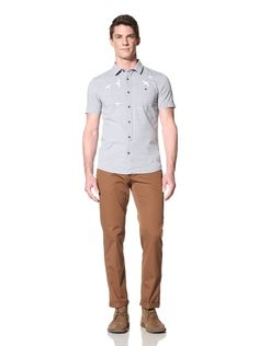 60% OFF Zanerobe Men\'s Dusk Short Sleeve Woven Shirt (Light Blue)