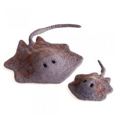 Felted Sting Ray chew toy