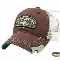 Cool home gadgets – Guinness Bottle Opener Baseball Cap – Coolest latest electronic technology gadgets Geek Gadgets, Cool Gadgets, Men's Accessories, Country Hats, Bottle Cap Opener, Beer Opener, Estilo Fashion, Cool Hats, Mens Caps