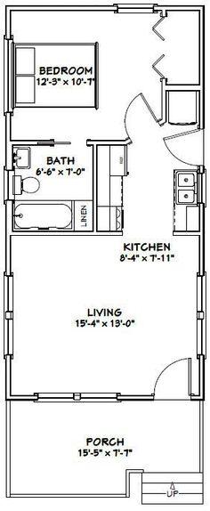 16x32 Tiny House -- #16X32H1B -- 511 sq ft - Excellent Floor Plans