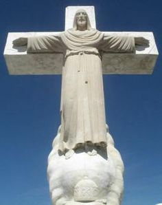 Statue of Christ  atop Sierra de Cristo Rey Mountain