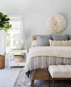 Bedroom with Layered Textures - pinned by www.youngandmerri.com