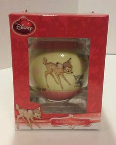 Disney Bambi Baby's 1st Girl Decoupage Ball Ornament 2013 New #Disney