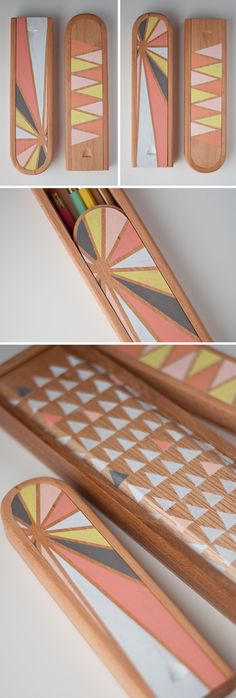 DIY: Pretty Painted Pencil Boxes