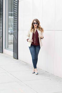 Spring Look with Linen Blazer