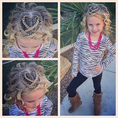 Because one heart is just never enough!  today we added a second heart and more crisscrosses in the front!  have a wonderful Monday!! #tinzbobenz #toddlerhairstyles #toddlerhair #princesshair #hearthair #heartbraids #hearthairstyle #valentineshair #valentines #valentinesstyle #kidshair #14daysofhearts #cutegirlshairstyles #instahair #instakids #instaheart #instabraid #instasmile #hairideas #hairinspiration #braidideas #braidinspiration #braidingmommies #hairstyle #kidsofinstagram #ki