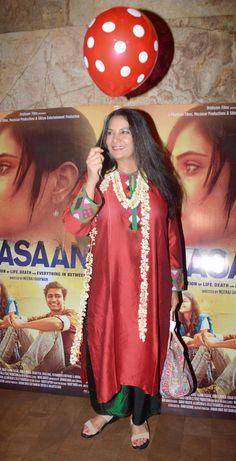 Shabana Azmi at screening of 'Masaan'. #Bollywood #Masaan #Fashion #Style #Beauty