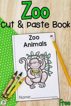 This Zoo Animals Cut & Paste Book is a fun way for beginning readers to practice reading repetitive text and develop their fine motor skills.