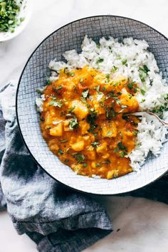 Tender cauliflower, butternut squash, and red lentils cooked in a coconut-creamy red curry sauce and poured over a mini-mountain of steamy rice. Indian Food Recipes, Whole Food Recipes, Vegetarian Recipes, Cooking Recipes, Healthy Recipes, Ethnic Recipes, Quick Recipes, Family Recipes, Quick Meals