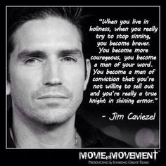 I pinned this to show that what a man says and does is absolutely what defines him--and infinitely more important than what cloth he wears. Wear Godly character.   yay Jim!!  VL.         #JimCaviezel