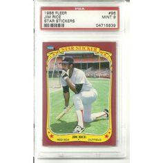 PSA 9 MINT Jim Rice 1986 Fleer Sticker #96 Boston Red Sox Hall of Famer Listing in the Graded,1980-1989,Singles,MLB,Baseball,Sports Cards,Sport Memorabilia & Cards Category on eBid United States | 147730074