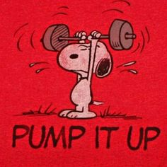 Cross fit snoopy for you @Nikki Beachley !!!