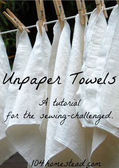 Learn how to make your own unpaper towels, even if you have limited sewing abilities. This tutorial for DIY unpaper towels doesn't even require sewing in a straight line! waste living diy Unpaper Towels: The Green Alternative to Paper Towels Sewing Hacks, Sewing Tutorials, Sewing Crafts, Sewing Tips, Sewing Basics, Sewing Ideas, Sewing Patterns Free, Free Sewing, Knitting Patterns