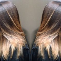 Blonde ombré balayage highlights hair paint