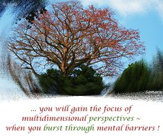 ... you will gain the #focus of multidimensional #perspectives ~ when you burst through mental #barriers !