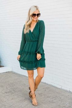 You're Calling To Me Evergreen Dress SALE Dress Sale, Dresses For Sale, Green Summer Dresses, Pink Lily, Online Boutiques, Evergreen, Must Haves, Model, Sweaters