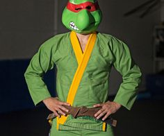Ninja Turtles Gi  Grab a couple of friends a slice of pizza and suit up in the Ninja Turtles gi  because its crime fighting time!Whether the day calls for a battle with the Foot Clan or the evil Shredder this durable ooze green gi will hold up perfectly as you do battle  cowabunga!  $185.00  Check It Out  Awesome Sht You Can Buy