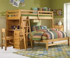 Twin Over Full Bunk Bed Desk - If you have teenagers, then you know how challenging it can be to obtain the ideal items fo Girls Bunk Beds, Loft Bunk Beds, Bunk Bed With Desk, Full Bunk Beds, Bunk Beds With Stairs, Kid Beds, College Loft Beds, Bunker Bed, Bunk Bed Designs