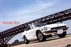 1976年式 日産 フェアレディZ-L(A-S30) 写真の車体は後期型。ラジエータの大型化に伴い、コアサポートが下に張り出しているのが後期型の特徴。また、装着されている一見社外風のホイールは最終型の純製オプション品。  ノスヒロ10月号発売中! http://www.geibunsha.co.jp/mag/nh/p/  1976 models NISSAN FAIRLADY Z-L (A-S30)  The car of this photograph is a second-half type.  The second-half type feature is a point which core support has projected downward in connection with enlargement of a radiator. Moreover, the wheel of the glimpse external style with which it is equipped is a last type regular article option.