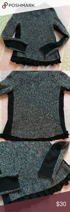 Moth Marled Sweater Very good used condition.  Runs small so is a large but fits more like a true Medium so am listing as a Medium. Anthropologie Sweaters