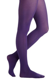 Tights for Every Occasion in Grape. Searching for that special shade of tights for your upcoming event? #purple #prom #modcloth