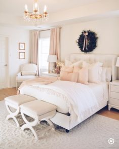 482 Likes, 8 Comments - LittleDesignCo. Cream And White Bedroom, Cream Bedrooms, Room Ideas Bedroom, Home Decor Bedroom, Classy Bedroom Ideas, Young Woman Bedroom, Pretty Bedroom, Dream Rooms, Luxurious Bedrooms
