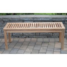 $203 48-inch - Solid Teak 4-foot Backless Bench - Overstock Shopping - Great Deals on Outdoor Benches
