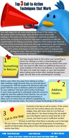 Infographics - Call-to-Action Tips for websites • 7Boats • Internet Marketing