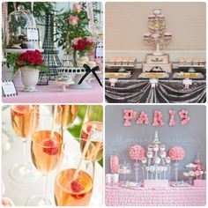 Paris Bridal Shower Theme  or just a travel theme would be awesome
