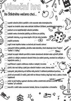 Vánoční hra: úkoly pro čekání na Ježíška - Blog - Zneznáma Winter Christmas, Christmas Time, Christmas Crafts, Chrismas Cards, Advent Calenders, School Clubs, Christmas Activities For Kids, Bullet Journal Inspiration, Teaching Tips