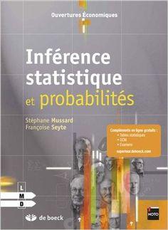 Ce livre a pour objet de guider et d'aider les étudiants dans la résolution d'exercices concernant l'inférence statistique, c'est-à-dire, le calcul des probabilités dans un contexte d'une algèbre de Boole (variables discrètes, continues, unidimensionnelles et bidimensionnelles), l'échantillonnage, les estimations (ponctuelles et par intervalle) et la théorie des tests d'hypothèse. Le livre insiste, dans les premiers chapitres, sur la manière dont il faut poser le problème.