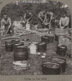 Cooks in the field, WW1
