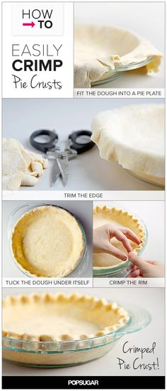 How to Easily Crimp Pie Crust, in Pictures