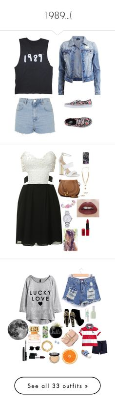 """""""1989...("""" by sofiy112 ❤ liked on Polyvore featuring Topshop, VILA, Vans, Glamorous, Carvela, Chloé, MICHAEL Michael Kors, Vince Camuto, Kate Spade and Haze"""