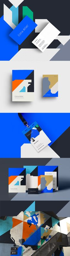 Visual identity created for Cotia Atlas company. The idea was to create something modern and global that conversed with the different segments where the brand operates.Visual identity created for Cotia Atlas company . Brand Identity Design, Graphic Design Branding, Logo Design, Brochure Design, Print Design, Corporate Event Design, Event Branding, Branding Agency, Identity Branding