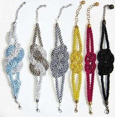 Seafaring Nautical Accessories - The Sailor Knot Bracelets by Etsy Seller Agats Knitting
