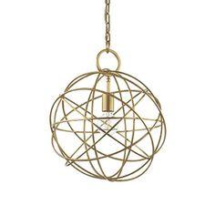 Magnifique lustre fil métal doré Structure