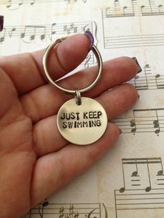 Just Keep Swimming  Finding Nemo Keychain by dalilicequeen on Etsy, $8.00