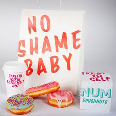 Numnut Donuts packaging design. Designed by: Hannah Lynch, USA.