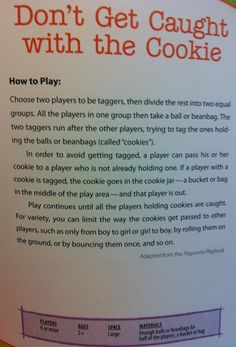 Kids outdoor games - Don't get caught with a cookie