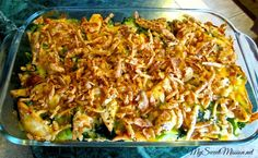 My Chicken Broccoli Casserole with French Fried Onions is so good and the crispy topping makes it taste like fried chicken! Recipe at My Sweet Mission: http://www.my-sweet-mission.com/2014/03/chicken-broccoli-casserole-with-french.html #Casserolerecipes #Chickenrecipes