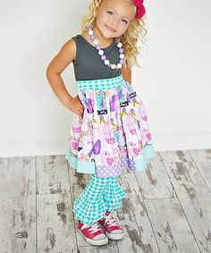 Take a look at the KPea Original Gray Birdcage Amy Dress - Infant, Toddler & Girls on #zulily today!