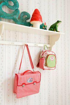 Le Petit Zèbre - colorful floral and gingham kids backpacks