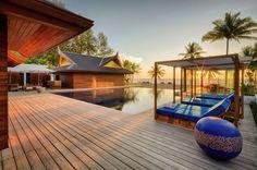 Salon Design Extérieur & Piscine - iniala-beach-house par Estudio & A-Cero - Phang Nga, Thaïlande