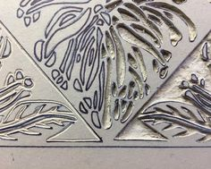 """86 Likes, 2 Comments - Lyn Weir - Artist (@lynweir) on Instagram: """"Sections ... carving lino :) Playing with postive/negative spaces ... when printed they will become…"""""""